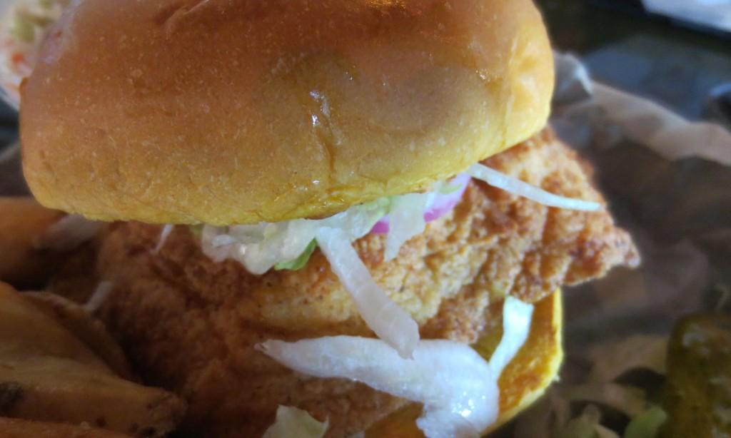 The Hawaiian grouper sandwich at Hula Bay, Tampa.